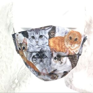 Kitty cat Facemask mask cloth fabric filter pocket